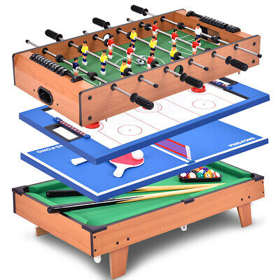 4 In 1 Multi Game Air Hockey Tennis Football Pool Table Bill