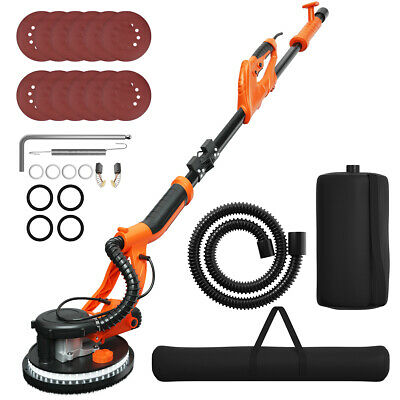 Electric Foldable Drywall Sander 750w Variable Speed Wautomatic Vacuum Lights