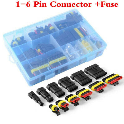 Fuses Kit&1 2 3 4 5 6 Pin Car Waterproof Electrical Terminal Wire Connector Plug segunda mano  Embacar hacia Spain