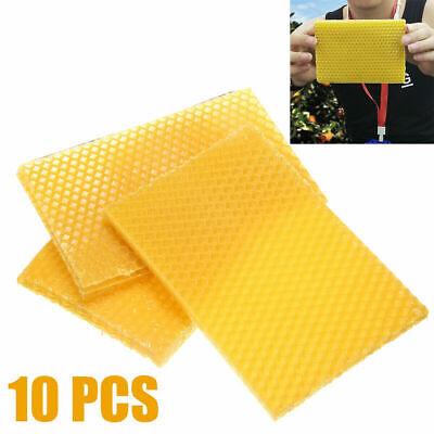 10pcs Beekeeping Honeycomb Foundation Wax Frames Honey Bee Hive Set Equipment