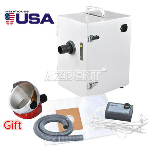 UPS Dental Lab Digital Single-Row Dust Collector Vacuum Cleaner + Suction Base