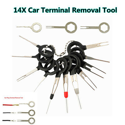 14Pcs Car Electrical Connector Extractor Wire Terminal Pin Removal Puller Tool