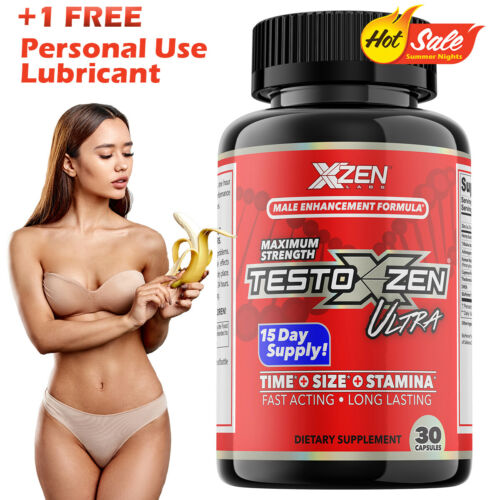 Stronger Male Enhancement Test Booster Sexual Formula for Men 30 Pills