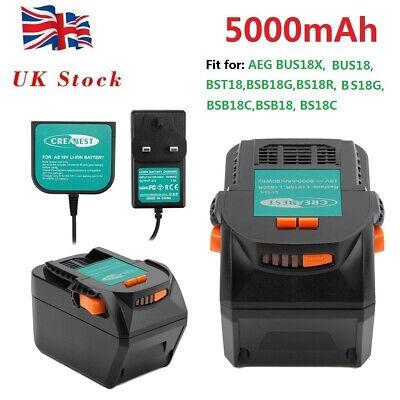 5000mAh 18V Li-ion Battery For AEG L1815R L1830R B1820R B1830R B1817G BST18X