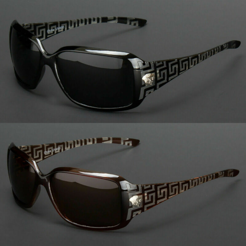 New Eyewear Womens Polarized Sunglasses Designer Shades Wrap Fashion Retro Vinta