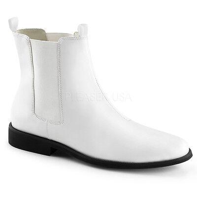 White Storm Trooper Star Wars Costume Cosplay Ankle Boots Shoes Mens 11 12 13 14 - Costume White Boots