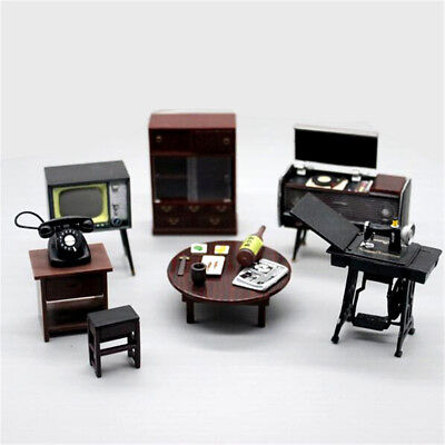 6pcs/set Doll House Miniature  Japanese Vintage Mini Furniture DIY Accessories