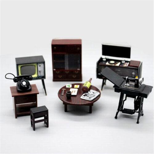 6pcs/set Doll House Miniature  Japanese Vintage Mini Furniture DIY Accessories