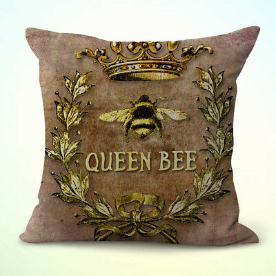 US Seller-wholesale pillows decorative queen bee crown wreath cushion cover