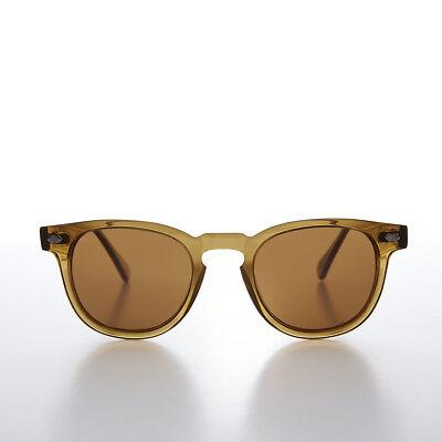 Polarized Square Retro Sunglass Museum Sunglass Amber / Brown Lens- (Rockabilly Museum)