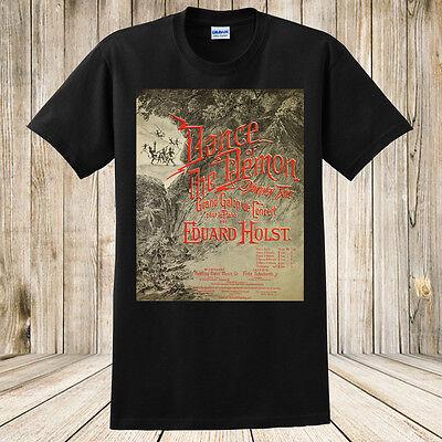 Dance of The Demon T-Shirt 1800's Sheet Music Art Spooky Halloween Shirt NEW (Halloween Costumes 1800)