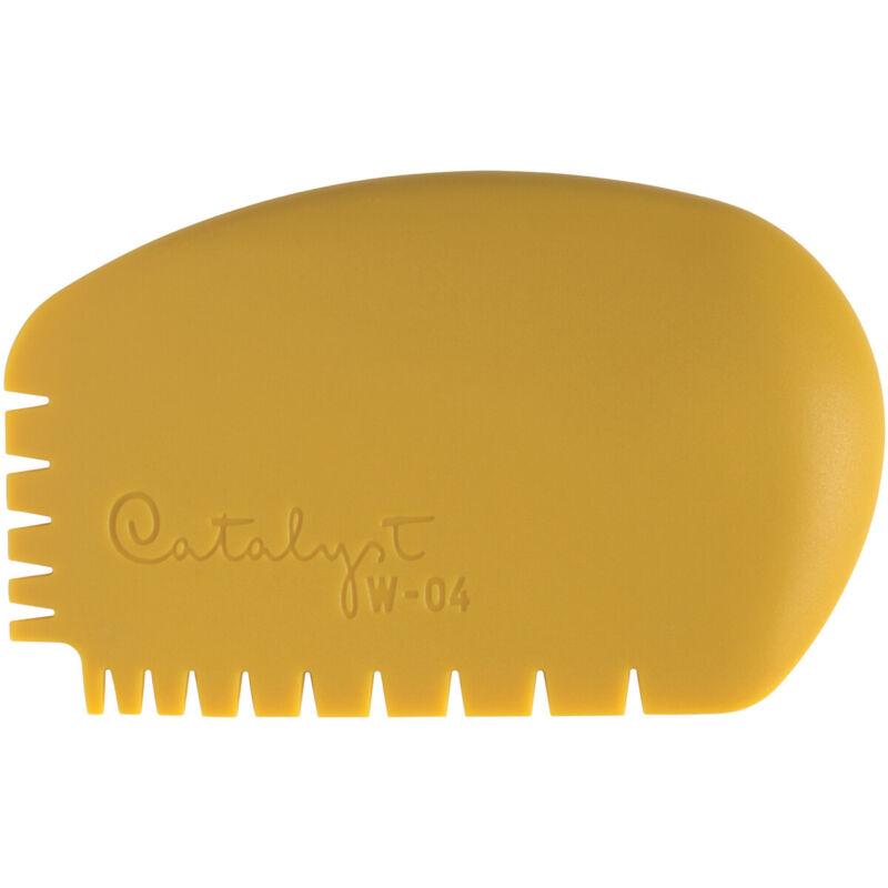 Princeton Artist Brush Catalyst Silicone Wedge Tool-Yellow W-04, W-0-4