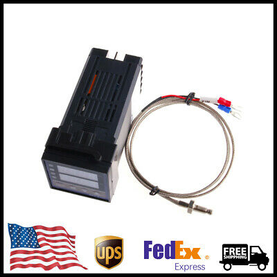 Pid Rex-c100 Temperature Controller Set K Thermocouple Heat Sink