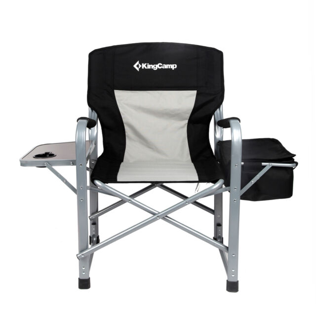 Folding Directoru0027s Chair Makeup Camping Chair Outdoor + Side Table Cooler  Bag