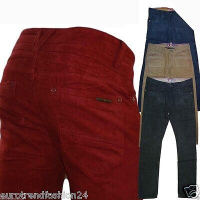 Herren Cord Hose Chino Hose Skinny Jeans Röhren velvet Neu Velvet Cord-hose
