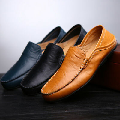 Casual Moccasin Driving Shoes Genuine Leather Loafers Men Shoes Luxury Flats ()