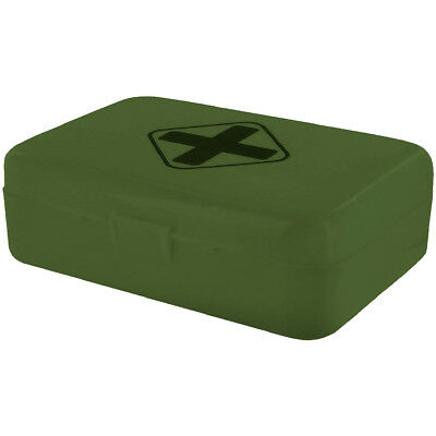 HIGHLANDER BASIC FIRST AID EMERGENCY KIT MILITARY CADET SAFETY MEDICAL BOX OLIVE