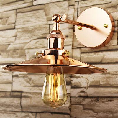 Industrial Retro Vintage Copper Metal Lamp Shade DIY Pendant Wall Light Fitting