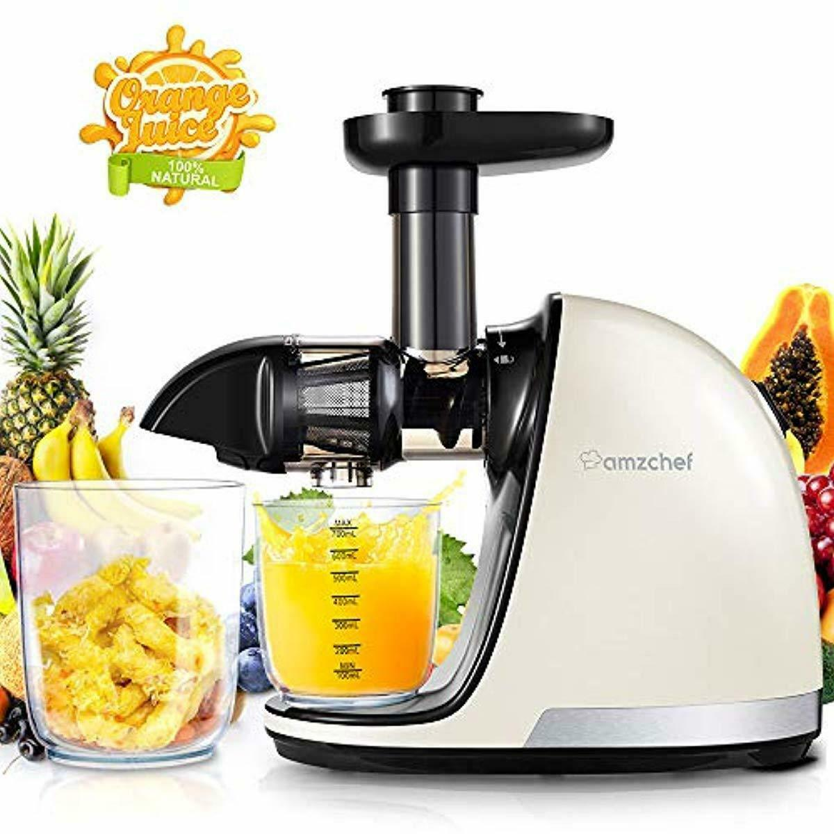Details about Slow Masticating Juice Extractor Professional Machine With Quiet Motor Reverse