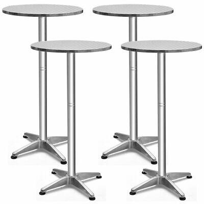 Folding Pub Tables - Set of 4 Aluminium 23 1/2