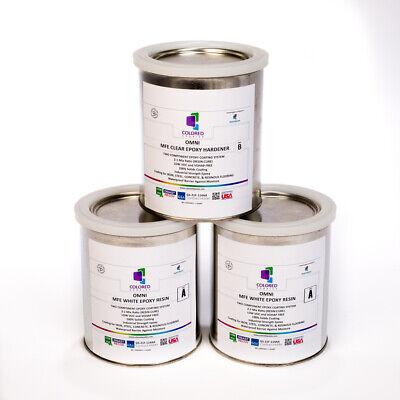 White Epoxy Resin 100 Solids For Garage Floorconcreteplywood. 3 Qt Kit