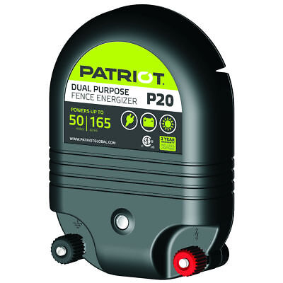 Patriot P20 Electric Fence Charger Energizer 50 Mile 2j And Free Fence Tester