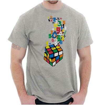 Nerd T Shirts (Official Rubiks Cube Sheldon Math Nerd Gift  Short Sleeve T-Shirt Tees)