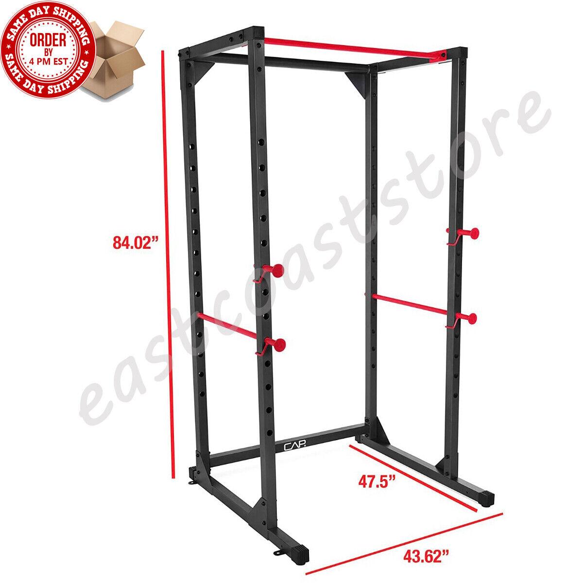 CAP Barbell Full Cage 7' foot Power Rack Squat Rack Bench Pr