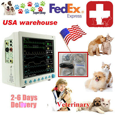 Patient Monitor Veterinary Vet 6 Parameterecgnibpprspo2temprespfda Ce