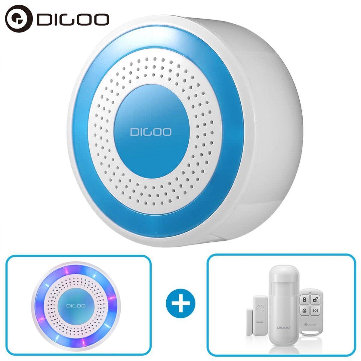 Digoo Wireless Home Security Alarm Standalone Siren Host PIR