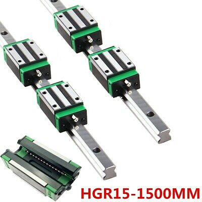 Us Stock Hgr15r 15mm Linear Rail Guide Slide Cnc 1500mm With Hgh15ca Slide Block