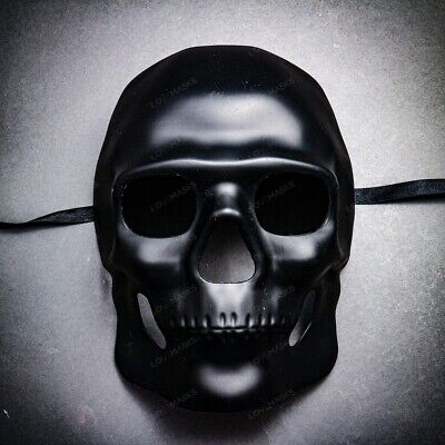 Halloween Full Face Black Skull Mask For Cosplay Costume Masquerade Mask Party - Halloween Full Costumes