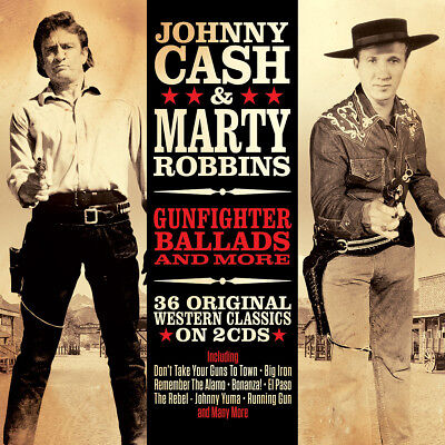 Johnny Cash & Marty Robbins GUNFIGHTER BALLADS & MORE Best Of 36 Songs NEW 2