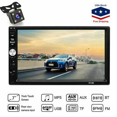 7 Inch Car Stereo Radio HD Mp5 Player Touch Screen Bluetooth Radio 2Din & Camera