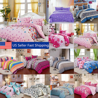All Size Duvet Cover with Pillow Case Quilt Cover Bedding Set Single Double King Double Duvet Cover Sets