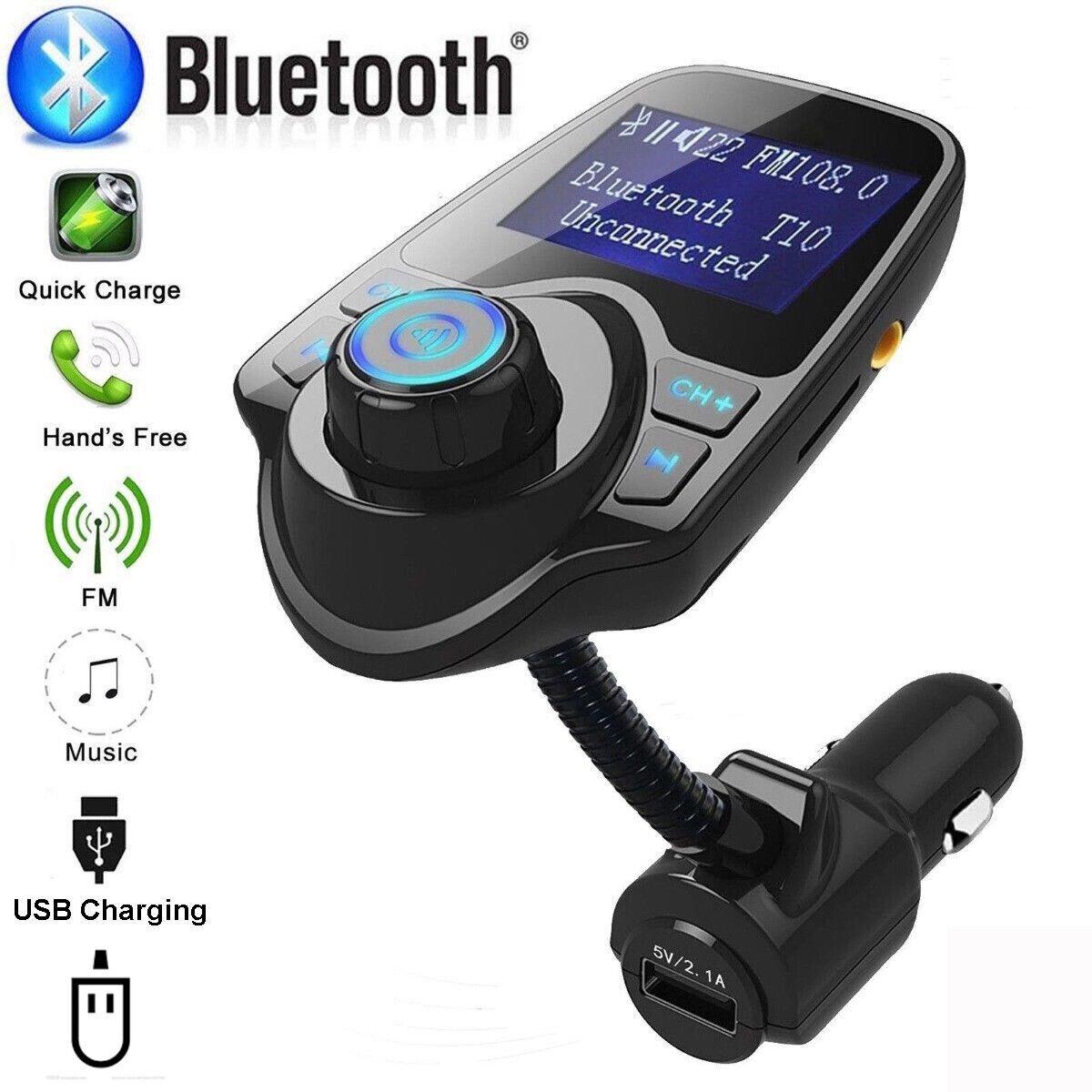 wireless in car bluetooth fm transmitter mp3