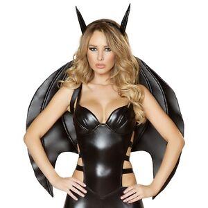 Bat Wings Adult Costume Acsry Demon Devil Fallen Angel Halloween Fancy Dress