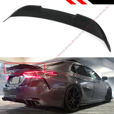 FOR 2018-2019 TOYOTA CAMRY MATT BLACK TRD STYLE DUCKBILL TRUNK LID SPOILER (Toyota Camry Trunk Wing)
