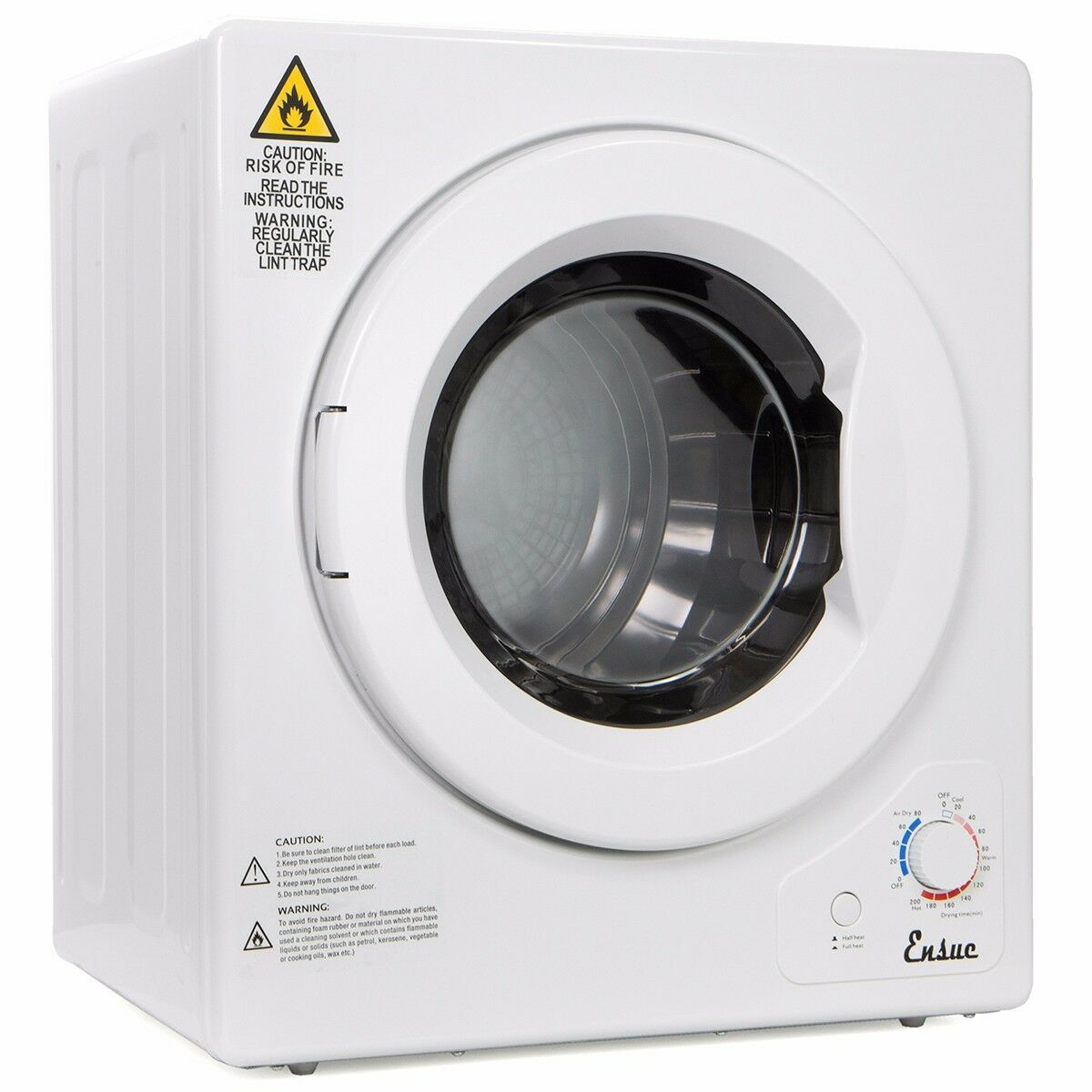 portable Stainless Steel Tumble Dryer 9lbs home apartment rv dorm ...