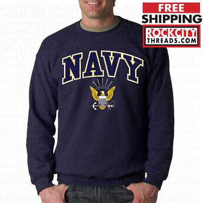 Military Crew Sweatshirt - US NAVY LOGO CREW NECK United States Crest USNAVY Military USN Sweatshirt USA