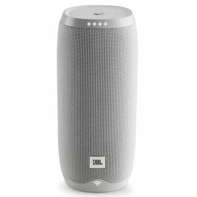 JBL LINK 20 Smart Portable Bluetooth Speaker with Google Assistant - White