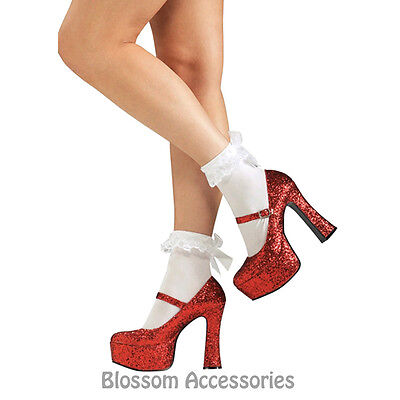 S36 Sexy Dorothy Wizard of OZ Sequin Red Ruby Womens Adult Costume Shoes