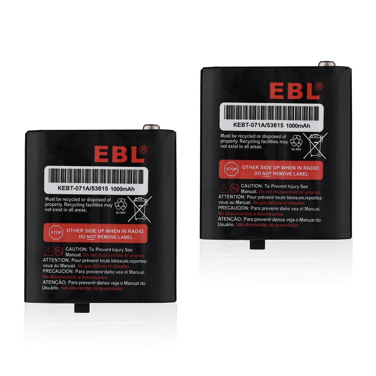 2x Battery For Motorola MR350 MJ270 T9500 T8500 MJ270 EM1000 53615 KEBT-071-D