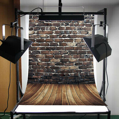 3x5ft Backdrop Wall Photography Background Props Red Brick Wooden