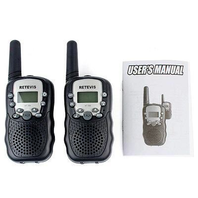 Retevis RT-388 Kinder Walkie-Talkie UHF 8 Kanäle PMR 446 MHz Schwarz DE DHL