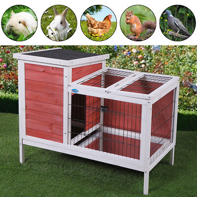 "36"" Wooden Rabbit House Hutch Chicken Coop Bunny Small Animal Cage Pet Outdoor"