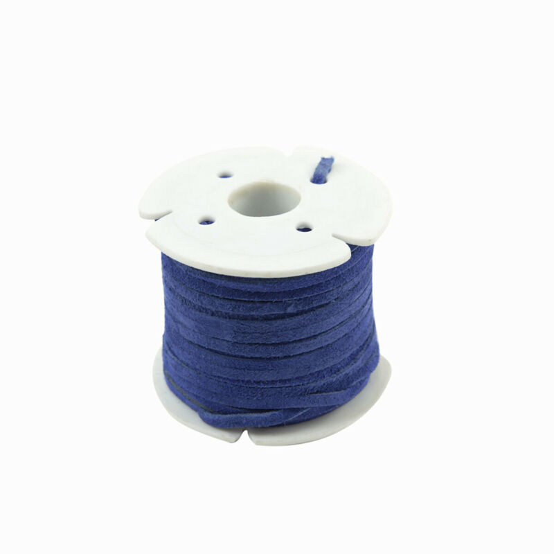 3mm Cobalt Blue Leather Lace Spool Jewelry Making Thread Craft Cord Suede Roll