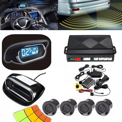 Auto Parking Sensor - Wireless Auto Car LED Display Parking Reverse Buzzer Alarm Kit 4 Radar Sensor US