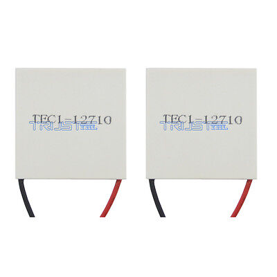 2pcs New 12v Tec1-12710 Heatsink Thermoelectric Cooler Peltier Plate Module Usa.