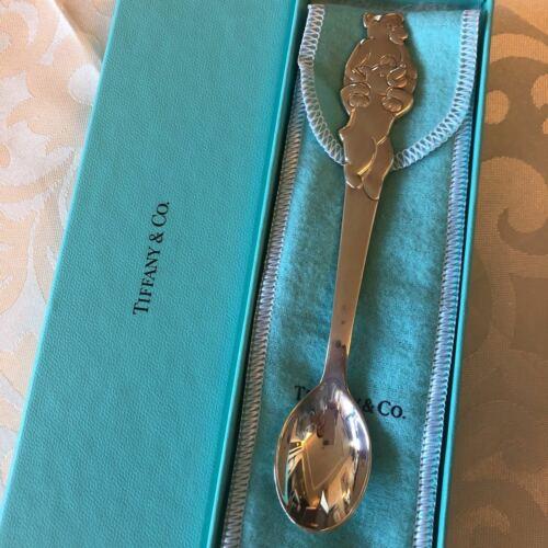 "Tiffany & Co. Baby Spoon ""Teddy Bear"" Sterling Silver Japan"